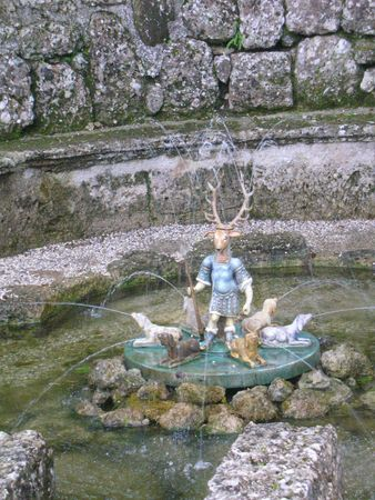 chateau hellbrunn (salzbourg) fontaine et cerf