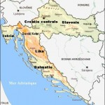 Croatie carte regions