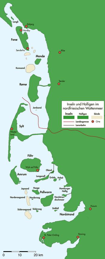iles Frise nord Nordfriesisches Wattenmeer