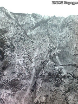 montagne montenegro rochers gelés