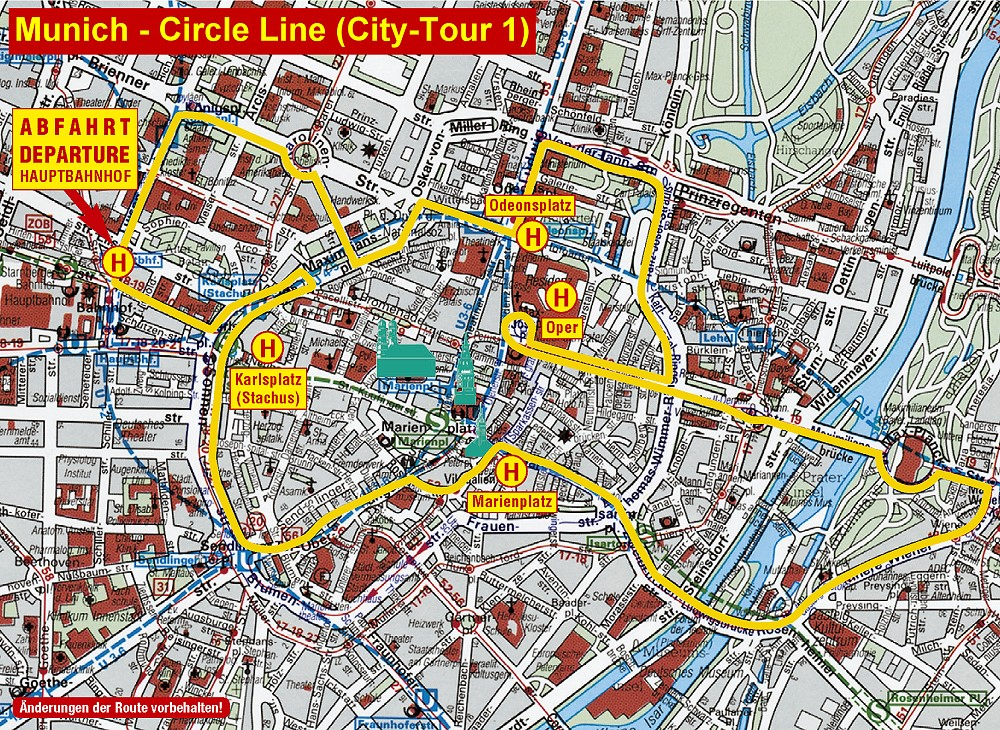 Plan Munich City tour