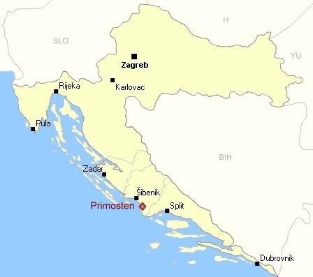 Primosten, charmant village de pêcheurs près de Sibenik