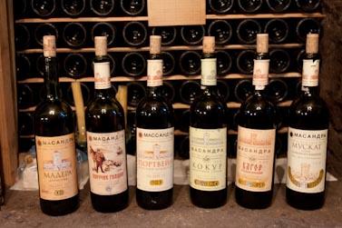 Choix de vins de Massandra, Crimée, Ukraine