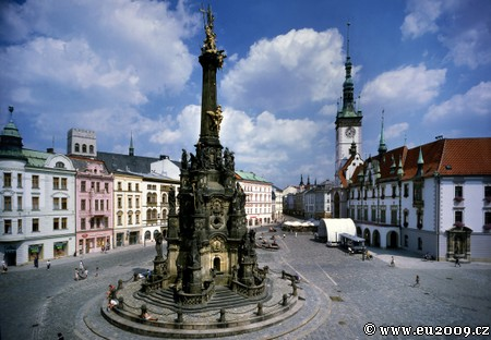 olomouc moravie colonne de la peste