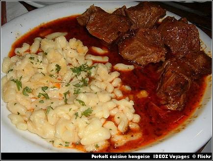 Porkolt - cuisine hongroise