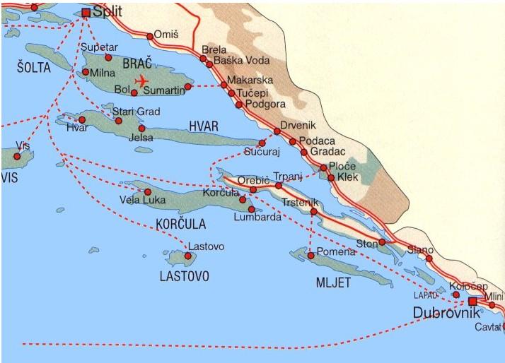 liaisons ferries iles dalmatie