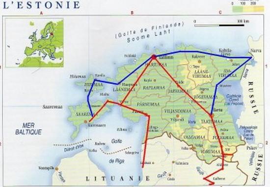 Itineraire Estonie
