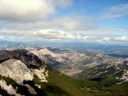 vue sur le montenegro depuis le lovcen