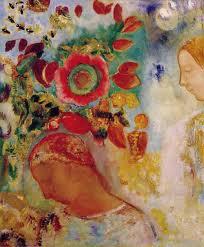 deux jeunes filles en fleurs Odilon Redon