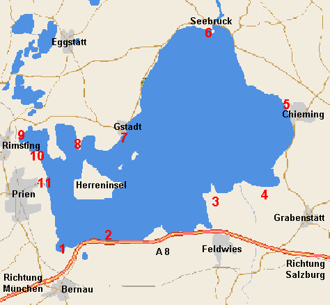carte chiemsee