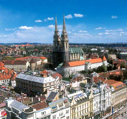 Zagreb vue de la ville basse