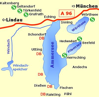 carte ammersee region