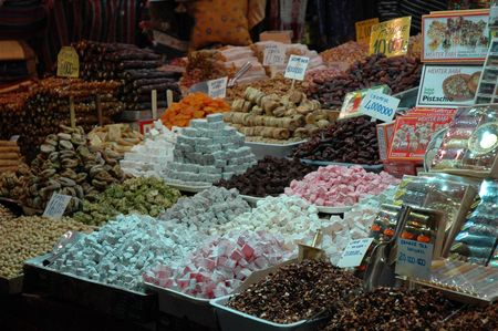 istanbul bazar egyptien loukoum
