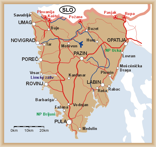 Carte d'Istrie