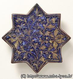 Art islamique étoile en céramique