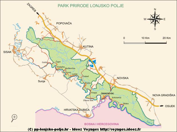 Lonjsko Polje carte