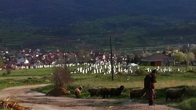 Serbie berger et cimetiere