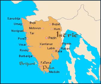 Carte Croatie Istrie Istria