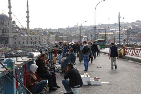 Istanbul Galata pecheurs