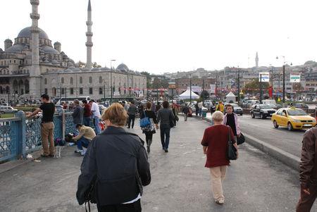Istanbul sur le pont Galata