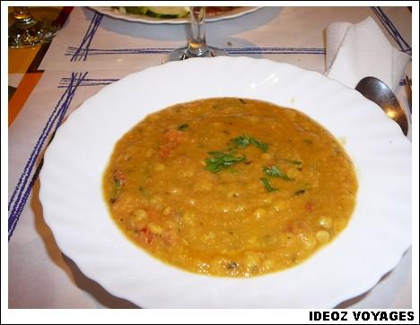Soupe aux lentilles Restaurant Punjab
