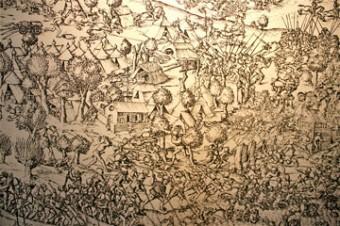 Gruyere chateau scene de bataille