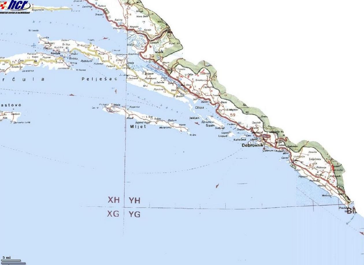 carte mines dalmatie du sud