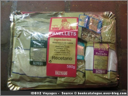 Panellets ingredients