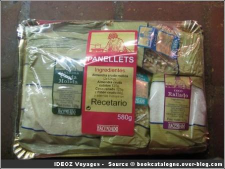 Panellets ingredients