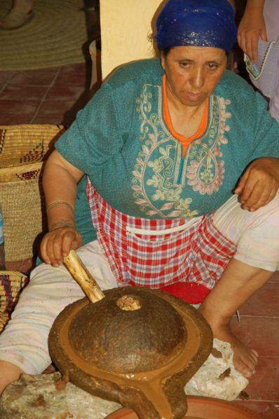 Argan fabrication de l'huile