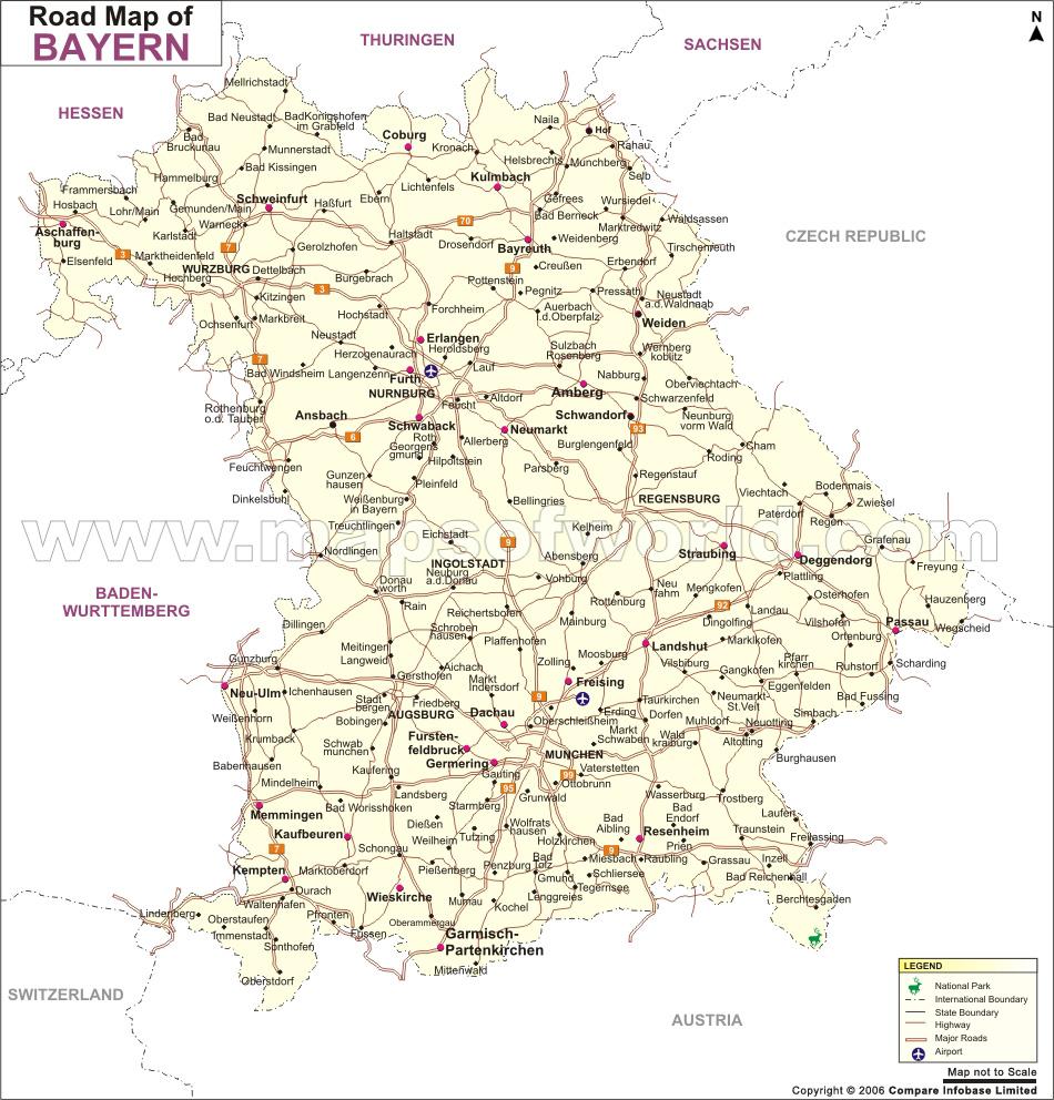 Carte de Baviere