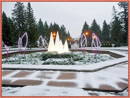 canada quebec neige jardin blanc