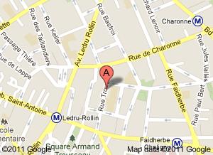 Plan Paris restaurant Rino