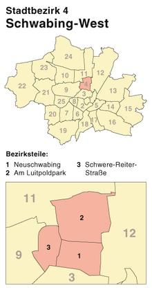 Schwabing West Munich Muenchen