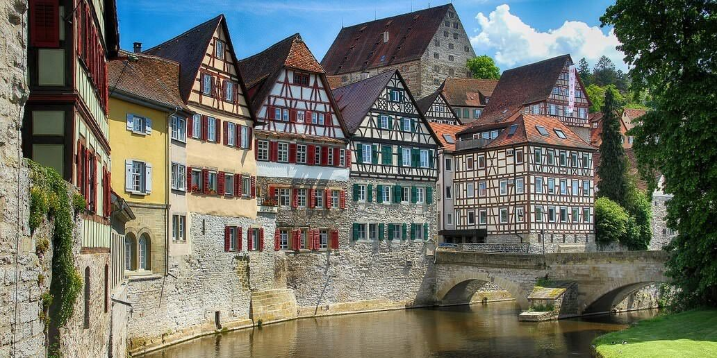 Facades typiques en Allemagne