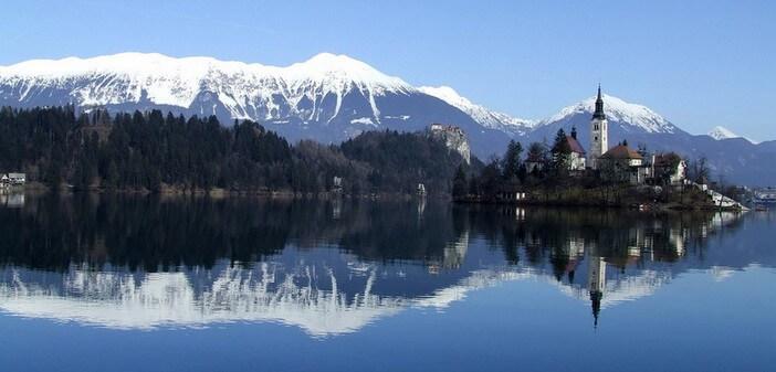 Lac de Bled en hiver