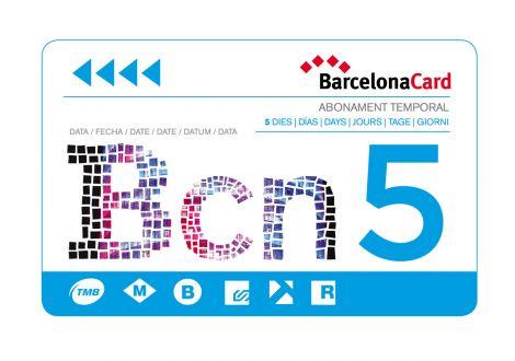 barcelona card 5 jours