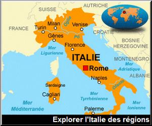 italie des régions cartes