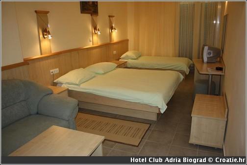 Adria hotel croatie biograd Chambre