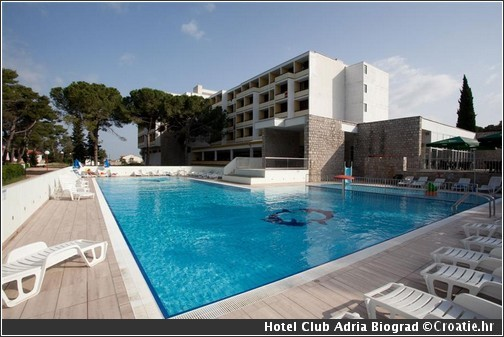 hotel Adria club biograd na moru croatie
