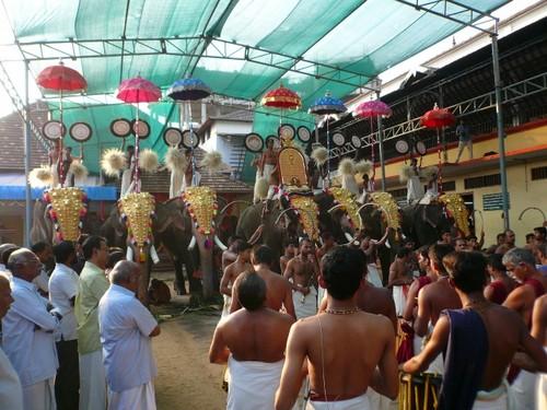 Cochin Koschi fete du temple
