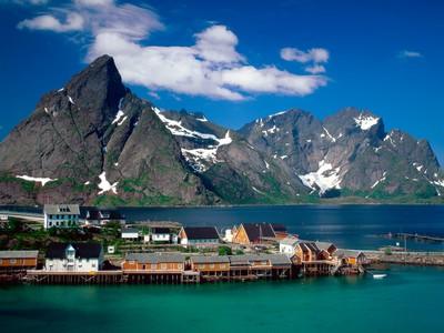 Norvege Sakrisoy iles Lofoten