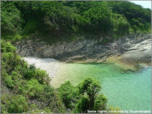 premantura plage en Istrie dans le nord de la croatie