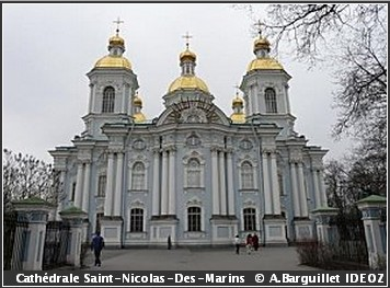 Saint Petersbourg Cathedrale Saint Nicolas des Marins
