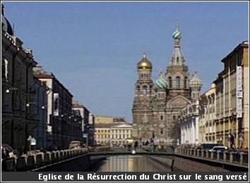 Saint Petersbourg Eglise de la resurrection du Christ