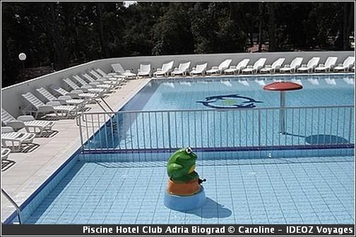 croatie Hotel club adria piscine