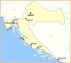 Crikvenica carte croatie