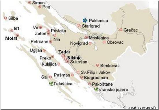 dalmatie du nord iles dalmates tourisme croatie