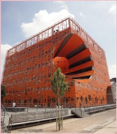 Lyon Confluence immeuble trompe l'oeil
