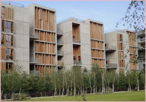 Lyon Confluence immeubles et jardins